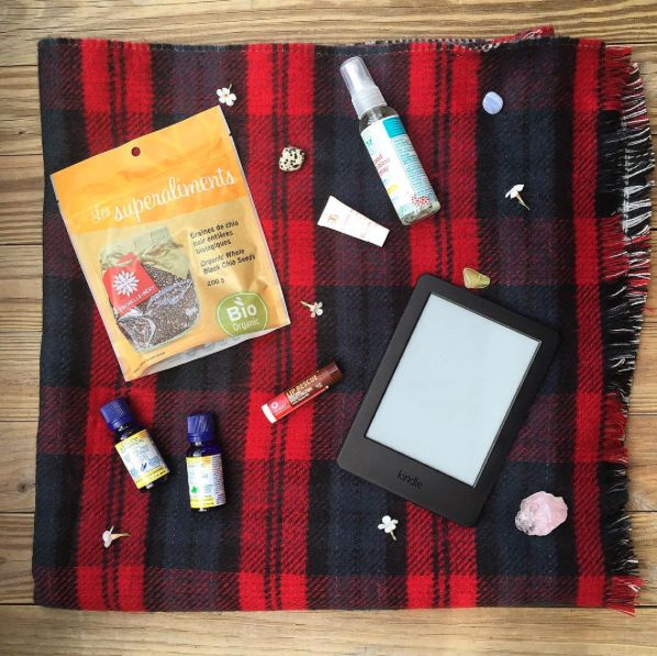 Essential oils, natural lip balm and natural hand sanitizer - staying healthy while traveling!   Travel essentials!