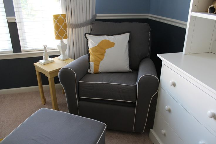 Project Nursery - Doy Themed Nursery Glider and Dog Pillow