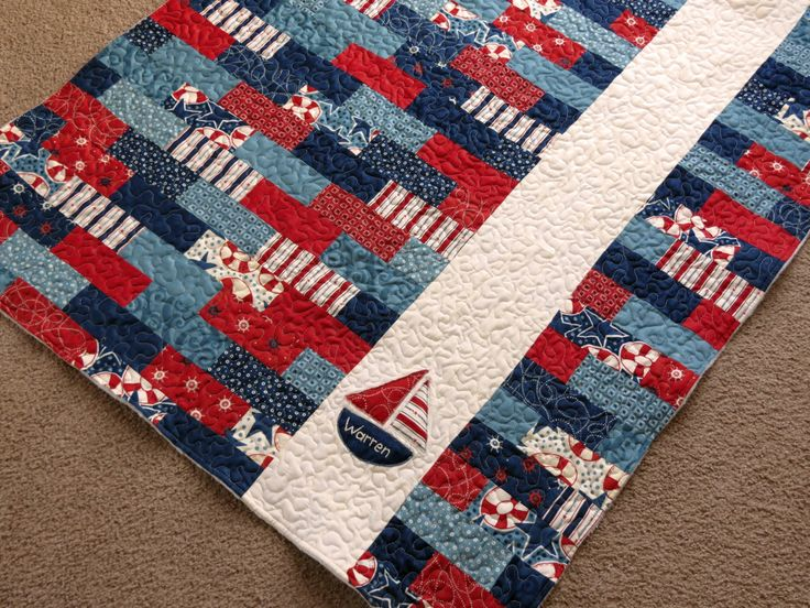 A Nautical Quilt that I made for my sweet nephew Warren!