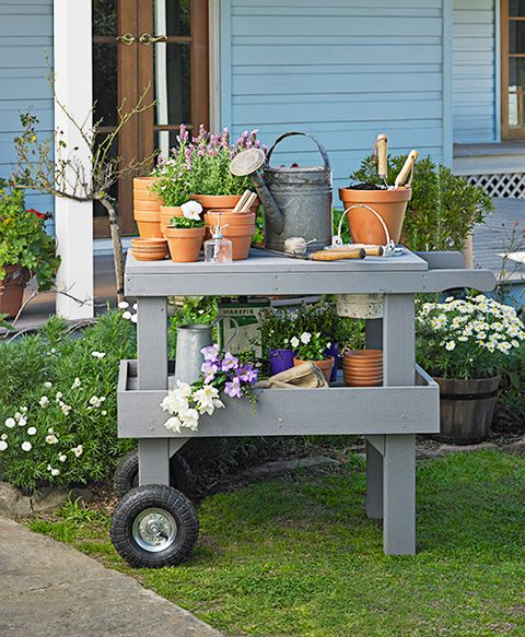 How To Build A Garden Trolley Better Homes And Gardens