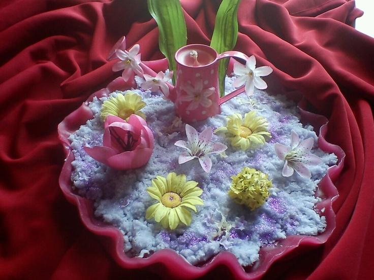 Handmade spring candle!