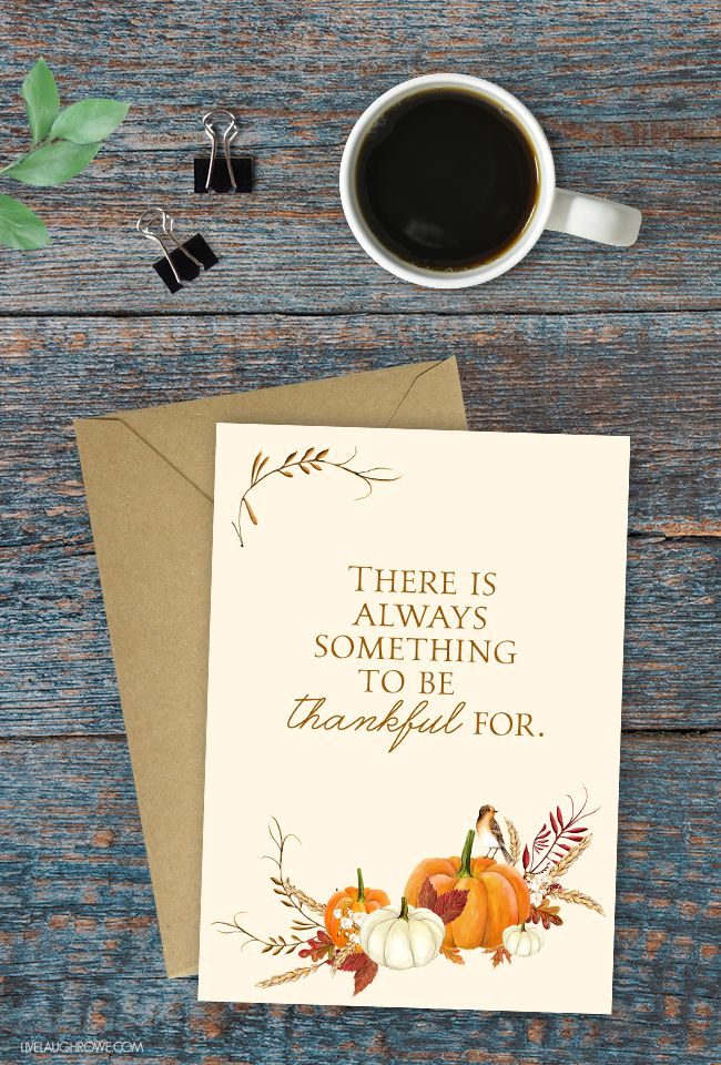 free bridal shower advice card template%0A Love this thankful printable with the quote    There is always something to  be thankful