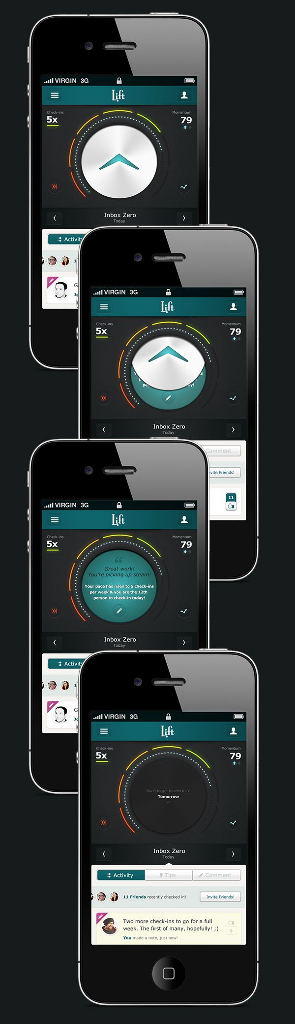 Lift: Early Concepts by Leigh Taylor, via Behance