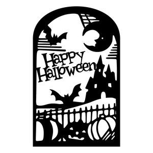 silhouette design store view design 149801 witch brew frame - Halloween Design