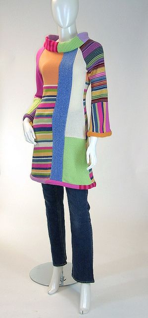 Mod Mondrian Tunic Dress, Pastels and Stripes, Size Small (4-6-8) | Flickr - Photo Sharing!