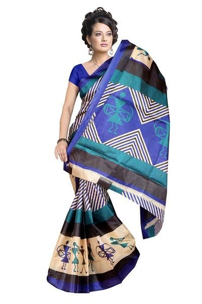 LadyIndia.com #Designer Sarees, Latest Designer Printed Saree For Women, Designer Sarees, Party Wear Saris, https://ladyindia.com/collections/ethnic-wear/products/latest-designer-printed-saree-for-women