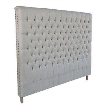 Avro Upholstered Linen Bedhead - King Size