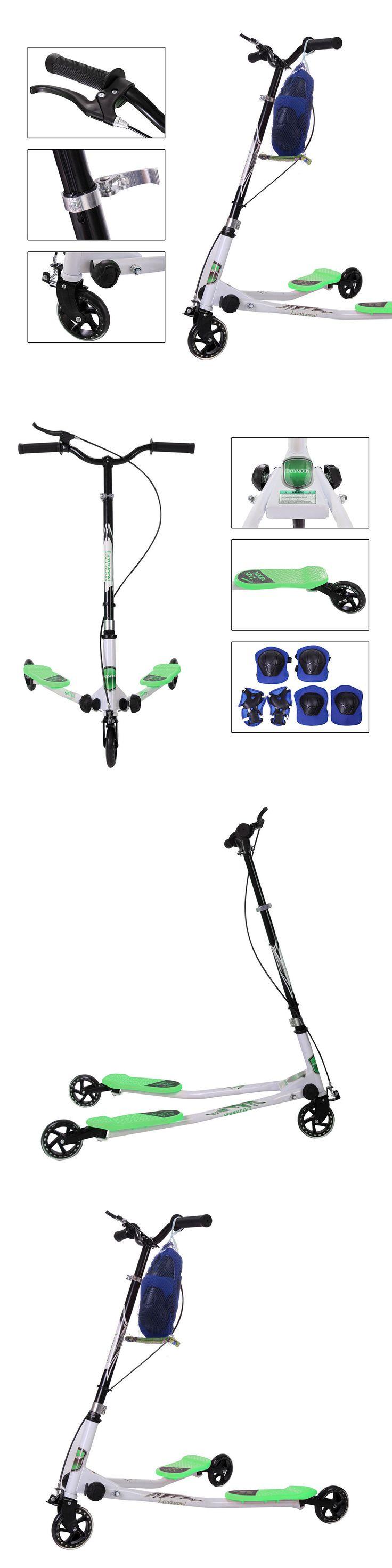 Kick Scooters 11331: Green Kids Scooter Wiggle Y Flicker Foldable Speeder Tri Slider Kickboard Medium -> BUY IT NOW ONLY: $53.99 on eBay!