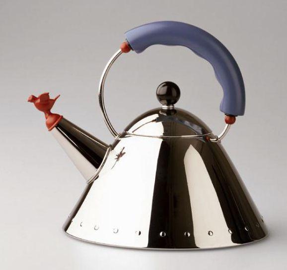 The Alessi tea pot. Georgio Ventura Design of a lifetime
