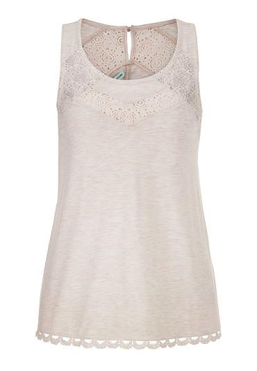 sleeveless top with lace and keyhole back (original price, $29) available at #Maurices