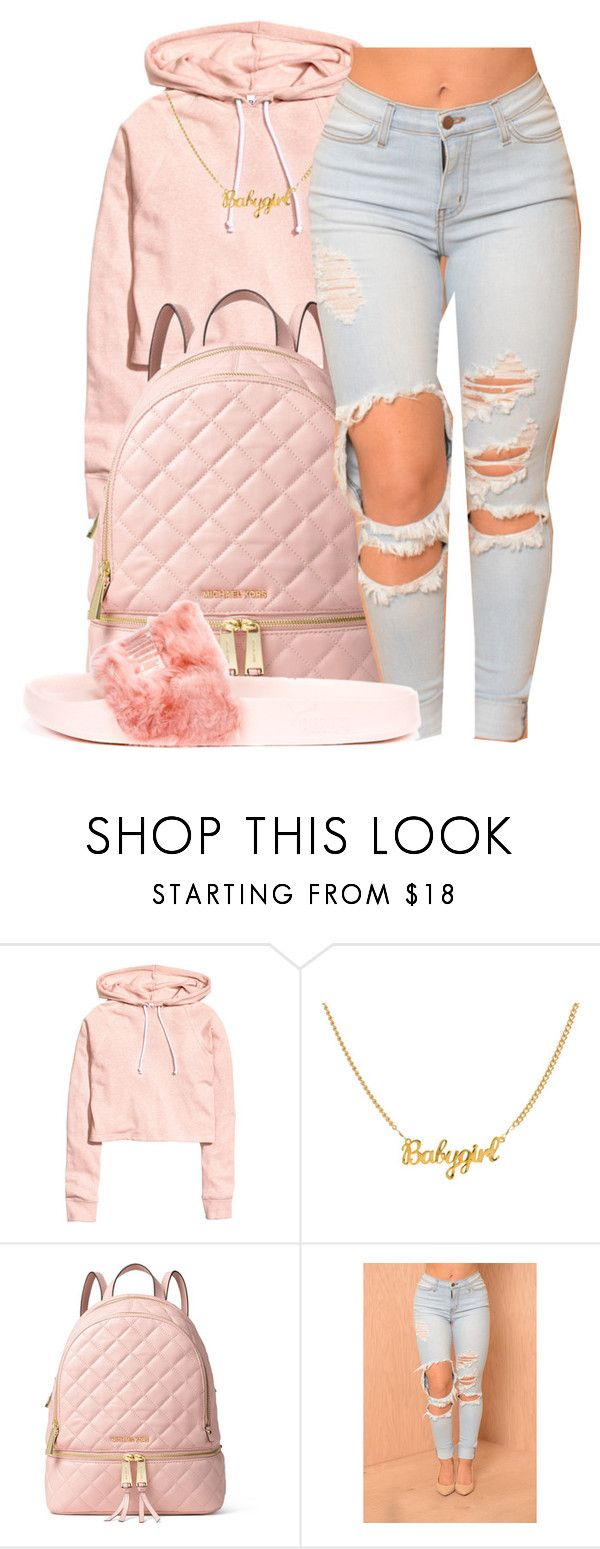 """May~Monte Booker"" by maiyaxbabyyy ❤ liked on Polyvore featuring H&M, MICHAEL Michael Kors and Puma"