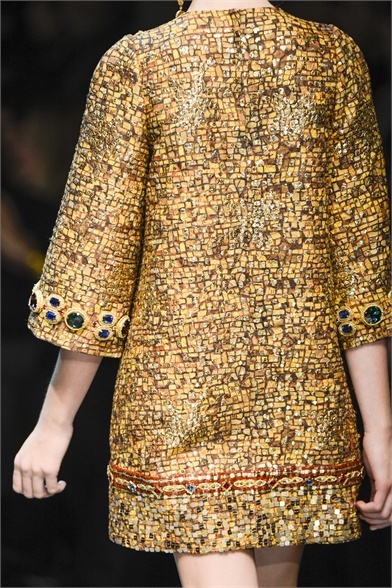 Dolce & Gabbana - Collections Fall Winter 2013-14 - Shows - Vogue.it - Reminds me of Klimt