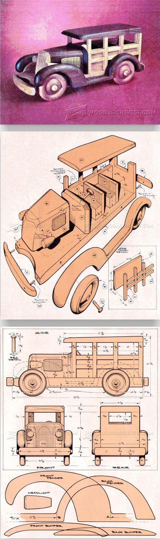 Woody Wagon Plans - Children's Wooden Toy Plans and Projects | WoodArchivist.com