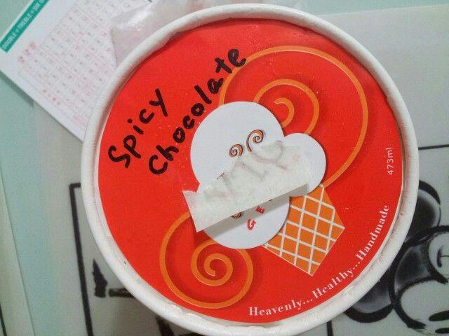 XTC spicy chocolate gelato