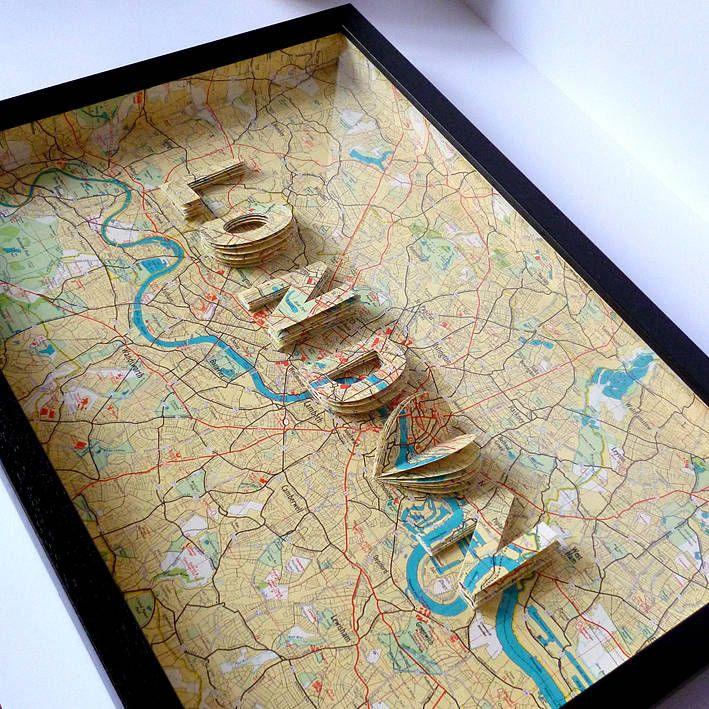 London Letter Map Artwork