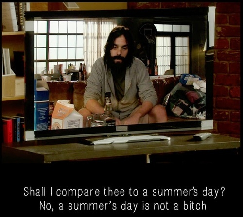 "Nick Miller - New Girl...""Shall I compare thee to a summer's day?"""