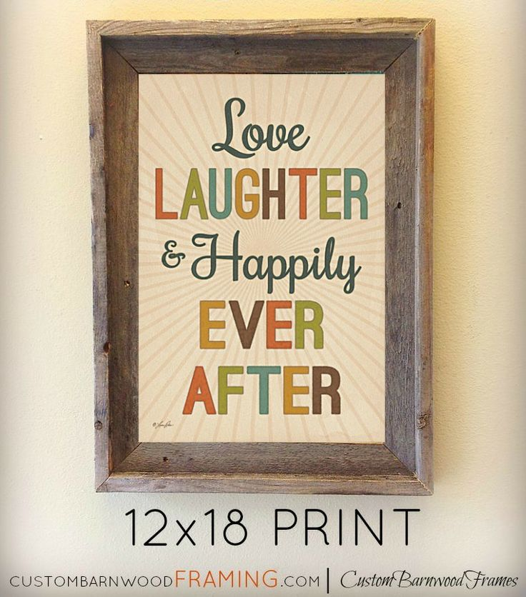 custom barnwood frames love laughter happily framed print 2499 http