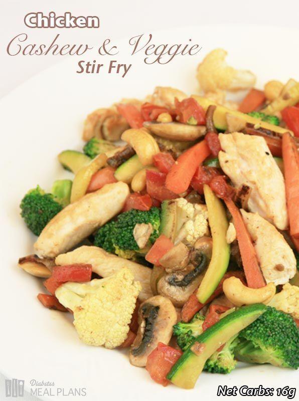 Delicious Diabetic Dinner: Chicken Cashew Chicken Stir Fry