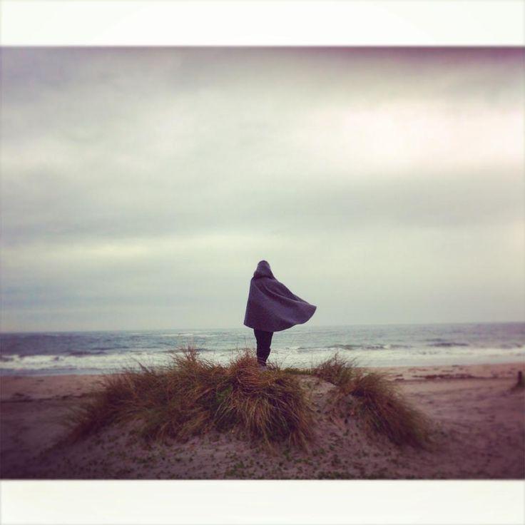 Wrap yourself in burel! #capecoat #hoodedcape #overcoat #heritagefashion…
