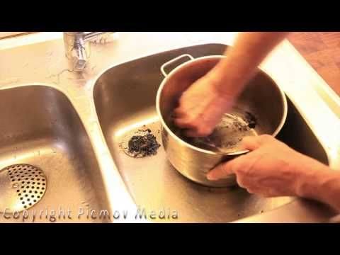 how to clean a scorched pot