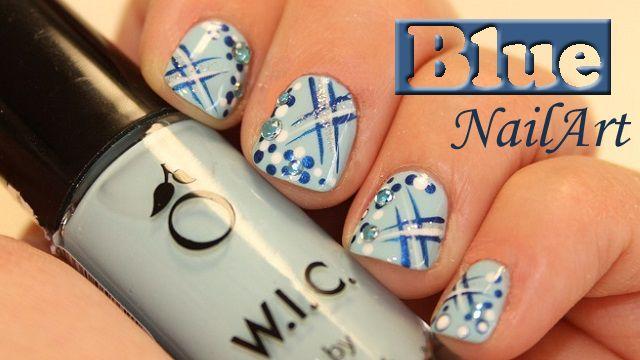 Blue NailArt met strass steentjes ~ stap voor stap on http://www.beautynailsfun.nl/2014/03/blue-nailart-met-strass-steentjes-stap-voor-stap/