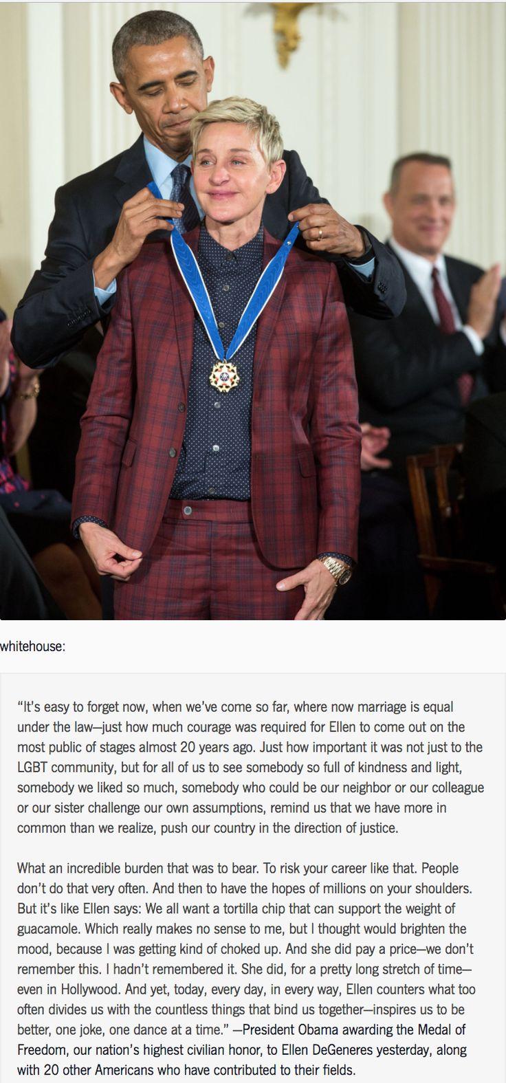 Ellen DeGeneres, absolute queen.