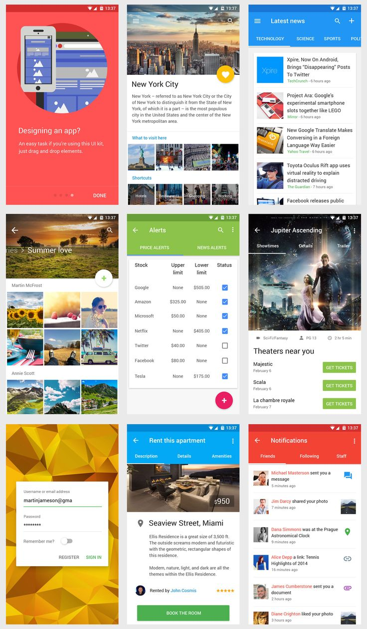 Material Design UI for mobile app #MaterialDesign
