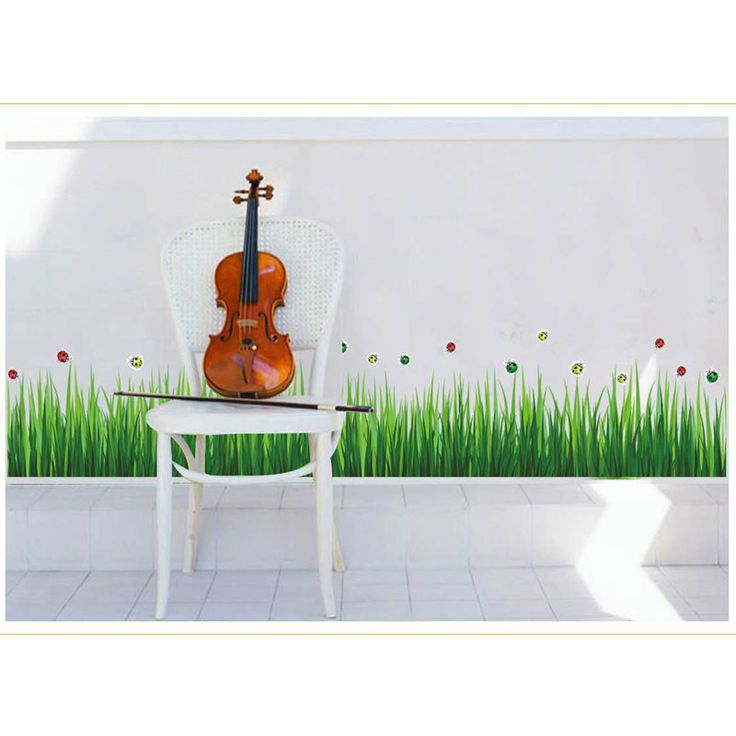Grass Wall Stickers //Price: $9.11 & FREE Shipping //     #DIY