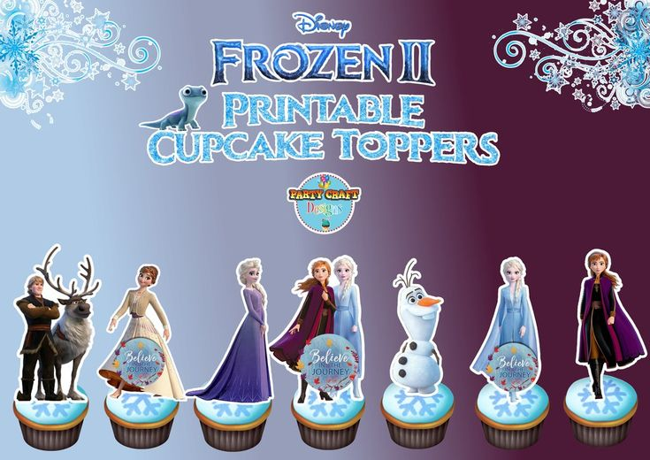 Frozen 2 cupcake toppers digital file only frozen 2