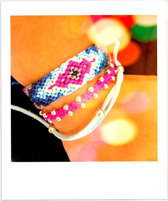 Beaded Jewelry Friendship bracelet  Neon by TheTreeOfHappiness, $20.90