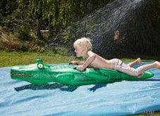 DIY Water slide: 10 Summer water activities for kids | #BabyCenterBlog #SummerFun