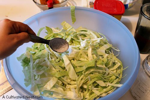 Easy and inexpensive homemade sauerkraut