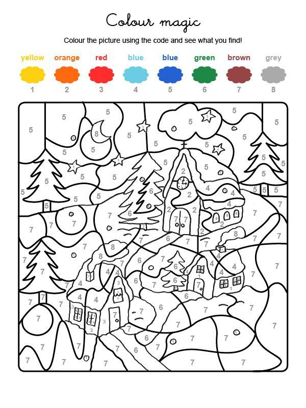 Fichas Para Colorear En Ingles Christmas Coloring Pages Coloring Pages Color By Numbers