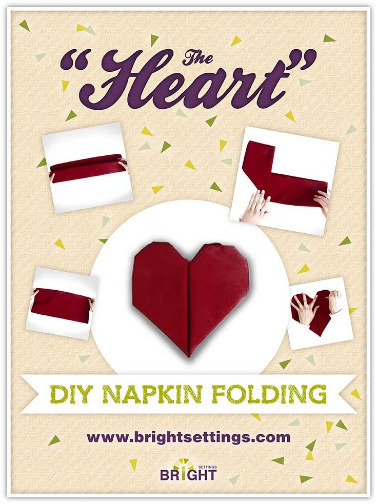 Napkin Folding Instructions for the Heart Napkin Fold