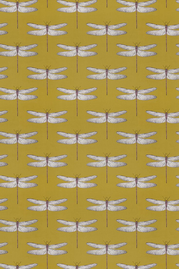 Demoiselle Chartreuse / Grape fabric by Harlequin