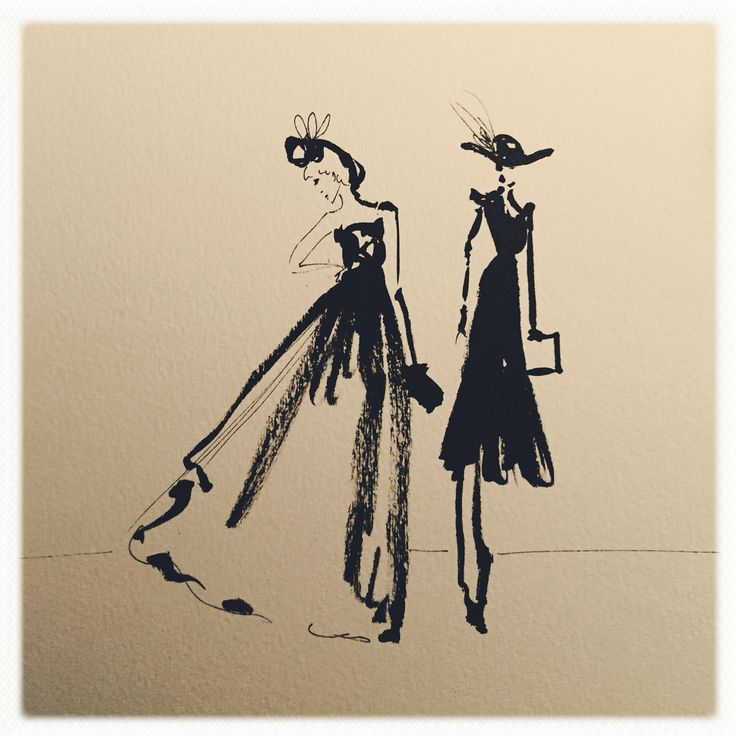 Fashion illustration - upcoming exhibition by Anna Gabriella