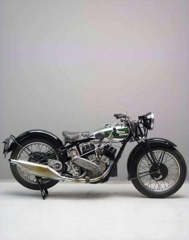 classic, vintage ROYAL ENFIELD motorbike. cafe racer