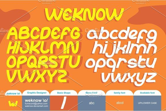 abc font by weknow on @creativemarket