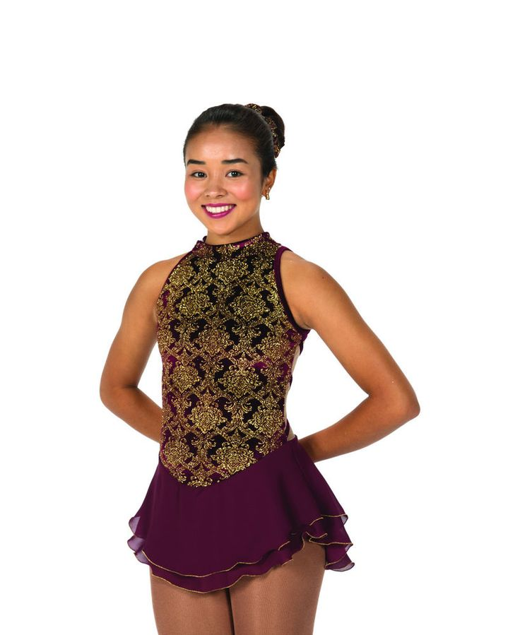 New Jerrys Competition Skating Dress 116 Essex Bordeaux Made on Order | eBay