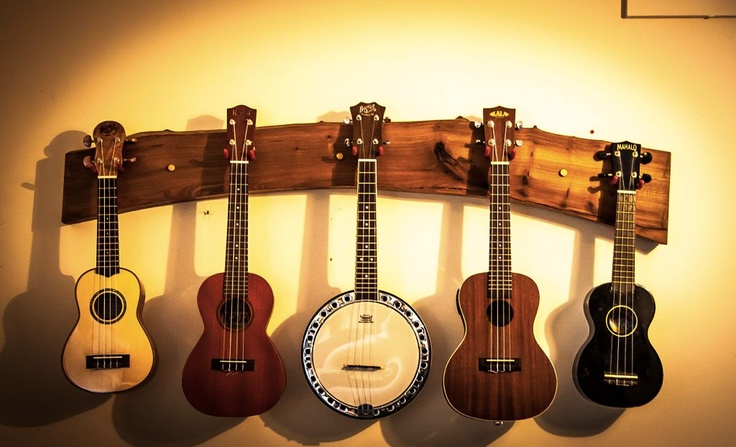 I will learn the ukulele and have a ukulele hanger in my house