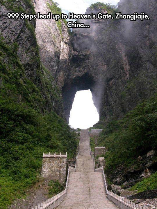 Heaven's Gate. Tianmen Mountain is a mountain located within Tianmen Mountain National Park, Zhangjiajie, in northwestern Hunan Province, China.