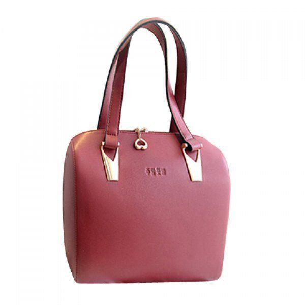 Elegant Metal and PU Leather Design Women's Shoulder Bag