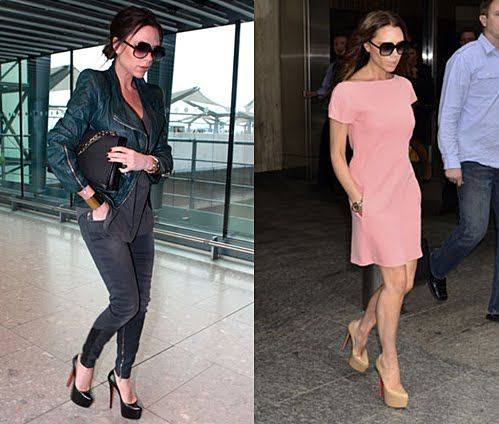 Victoria Beckham Style: want the dress in the pink.