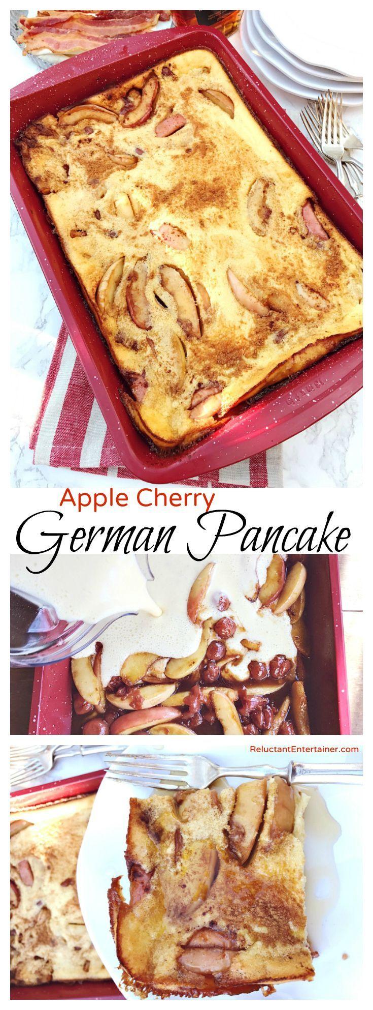 Apple Cherry German Pancake Recipe