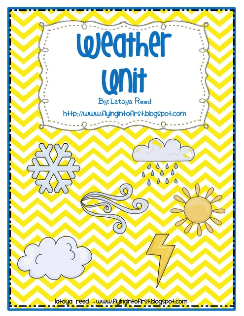 My very first unit I taught was a weather unit during my first year as a 1st-grade teacher. I still have this unit, even thou I will never teach it again. There is something that will not let me get rid of it.