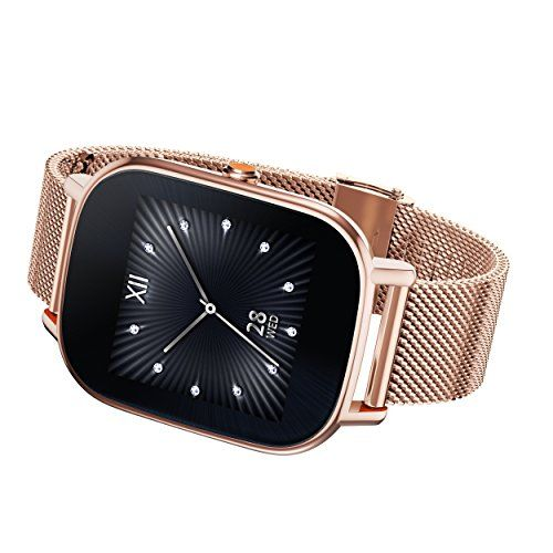 """ASUS ZenWatch 2 Rose Gold 37mm Smart Watch with Quick Charge Battery, 4GB Storage, 1.45-inch AMOLED Gorilla Glass 3 TouchScreen, IP67 Water Resistant   ASUS, wearable Tech WI502Q-RM-RG-Q, 1.45"""" AMOLED (280*280, 273ppi) gorilla glass 3, Rose Gold case, Rose Gold Metal band, touch screen, Qualcomm Snapdragon"""
