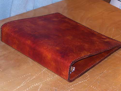 Hand tooled custom leather 3 ring binder