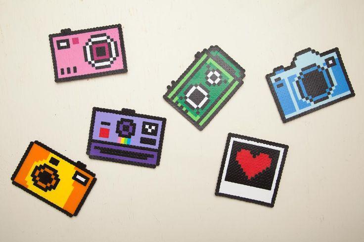 Perler Bead Camera Coasters   Maker Crate