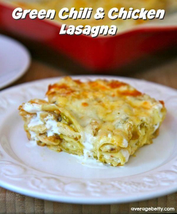Green Chili and Chicken Lasagna Recipe