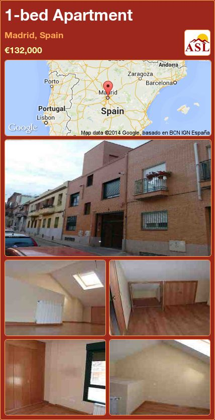1-bed Apartment in Madrid, Spain ►€132,000 #PropertyForSaleInSpain